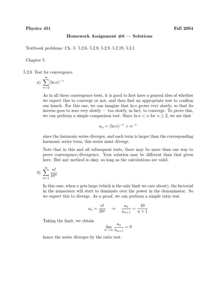 Arfken homework solutions