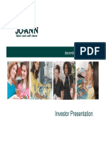 JAS Jo-Ann Stores Dec 2010 Corporate Presentation Slides Deck PPT