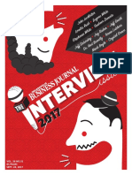 Interview Issue draft cover