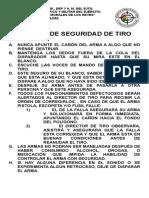 NORMAS DE SEGURIDAD TIRO CORREGIDO