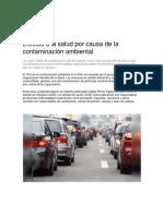 Contaminación ambiental - Perú