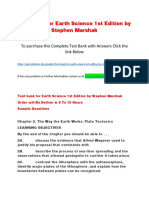 Test Bank for Earth Science 1st Edition by Stephen Marshak
