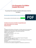 Test Bank for Economics 21st Edition Campbell McConnell
