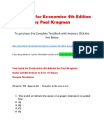 Test Bank for Economics 4th Edition by Paul Krugman