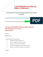 Test Bank for ECON MACRO4 4th Edition by William a. McEachern