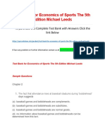 Test Bank for Economics of Sports the 5th Edition Michael Leeds