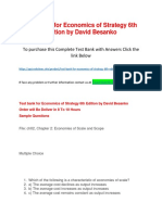 Test bank for Economics of Strategy 6th Edition by David Besanko.docx