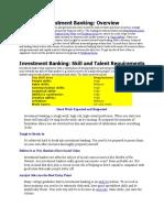 Investment Banking Interview Fundas