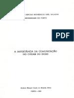 António Alves_A IMPORTANCIA DA COMUNICAÇÃO NO CUIDAR DO IDOSO_Universidade do Porto