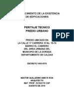 RECONOCIMIENTO DE  EXISTENCIA EDIFICACION SR. MARCOS