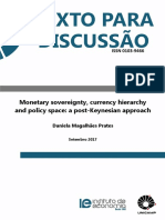 PRATES (2017) - Monetary sovereignty, currency hierarchy and policy space - a post-Keynesian approach