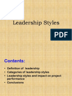 Group 1 Leadership Styles