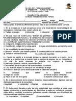 EXAMEN EXTRAORNINARIO F C Y E CICLO ESCOLAR 17-18