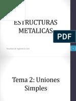 Estructuras metalicas   Uniones simples