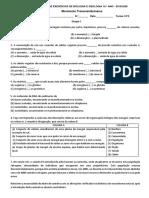 Ficha de Exercícios - Diversidade da Biosfera e Obtenção de matéria