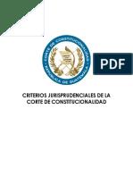 Criterios jurisprudenciales de la C.C