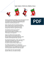 Twas the Night Before With the Children Poem
