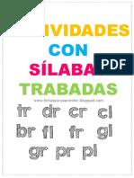 Fichas para aprender sílabas trabadas