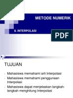 8. Interpolasi