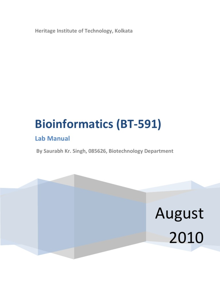 BioInfo Lab Manual   National Center For Biotechnology Information   Gen  Bank