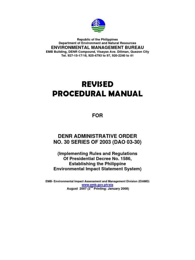 01-EIA Revised Procedural Manual Main Document - New   Environmental Impact  Assessment   Natural Environment