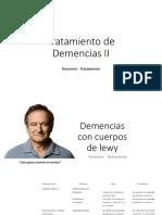 Tratamiento de Demencias II