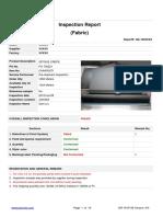Sample report-Fabric