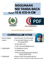 PENGGUNAAN KONVENSI TANDA BACA ICD-10 & ICD 9 CM