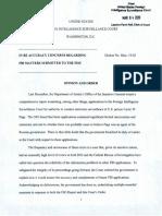 FISA court order banning FBI officials