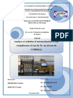 Analyse et solution d'automatisation d'une remplisseuse d'eau de 5L au niveau de CORDIAL