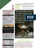 HCEC Weekly 2010-12-05 December 1st Sunday WORSHIP