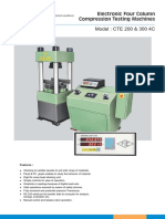 Electronic 4 Column Compression Testing Machines
