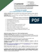Oferta curs postuniversitar - Profesor de sprijin pentru persoanele cu nevoi speciale,  2020