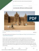 Por que a arquitetura vernacular africana continua sendo ignorada