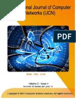 International Journal of Computer Networks (IJCN), Volume (2), Issue (1)
