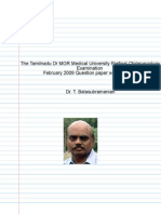 Tamil Nadu Dr MGR Medical University ENT MBBS Prefinal Feb 2009 question paper with solution