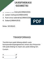TRANSFORMASI KEL 3