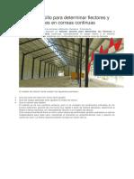 Método Sencillo Para Determinar Flectores y Deformaciones en Correas Continuas