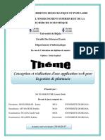Conception et réalisation d une application web pour la gestion de pharmacie.pdf