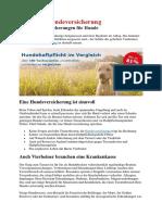 Deutsche Hundeversicherung