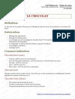 CAP-Patisserie-Le-chocolat