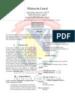Dilatacion Lineal Informe