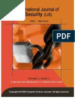 International Journal of Security (IJS), Volume (3)