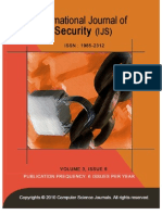 International Journal of Security (IJS), volume (3)