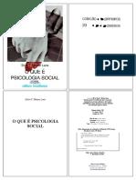 01_Livro -  O que é psicologia social - silvia lane