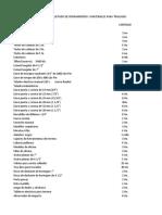 Listado de herramientas,EPP y materiales para traslado desde EDYCE Talcahuano