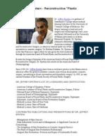Dr Jeffrey Epstein - Re Constructive Plastic Surgery