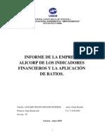 Ejemplo de Ratios Análisis financiero Trabajo FINAL