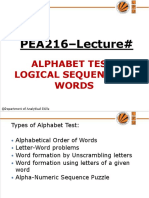 A10786564748_2113699_309_2009_2. UNIT- 6I Alphabet test & Logical sequence of words