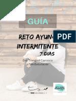 GUÍA   AYUNO INTERMITENTE 7 DÍAS